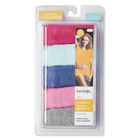 G21 Women's Cotton Stretch Boyshort Panties - Pack of 5 ...