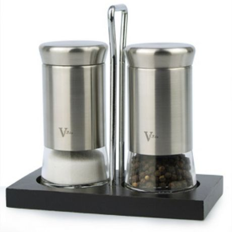 salt and pepper shakers. VFPco Salt And Pepper Shaker Set With Stand Shakers