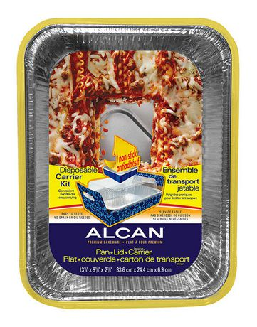 Alcan Lasagna Pan With Disposable Carrier With Lid
