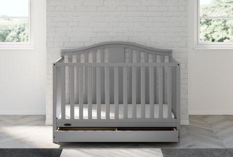 Graco Solano 4-in-1 Crib w/ Drawer - Pebble Grey - image 2 of 6