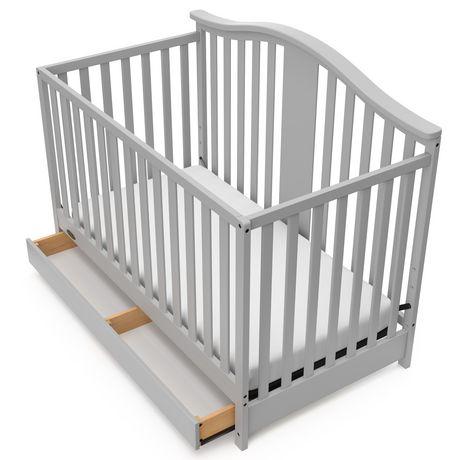 Graco Solano 4-in-1 Crib w/ Drawer - Pebble Grey - image 3 of 6