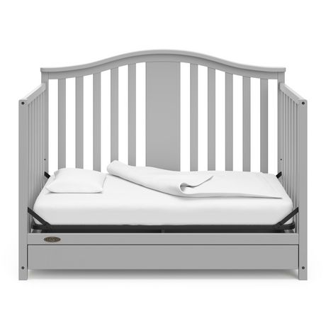 Graco Solano 4-in-1 Crib w/ Drawer - Pebble Grey - image 4 of 6
