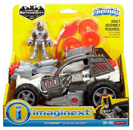 Imaginext DC Super amis rues de Gotham City Cyborg et a vu Buggy