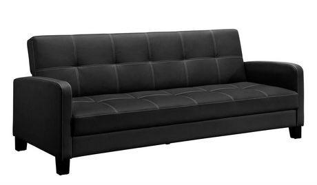 DHP Delaney Sofa Sleeper Black