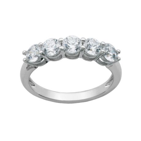 Bride to Be Sterling Silver 5 Stone Cubic Zirconia Ring Walmartca