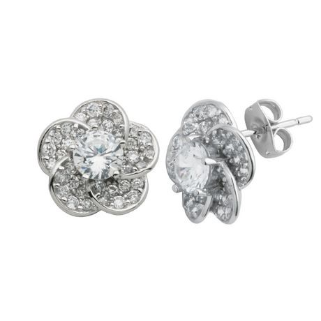 flower jewellery silver shop bespoke timothy stud earrings sterling