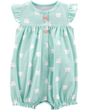 4eaa514fa96 Child of Mine made by Carter s Newborn Girls  1 piece romper - kitty -  image ...