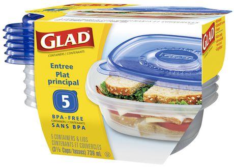 Contenants de plat principal GladWareMD - paq. de 5 - image 1 de 1