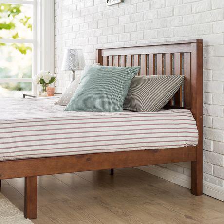 Zinus 12 Inch Deluxe Wood Platform Bed With Headboard