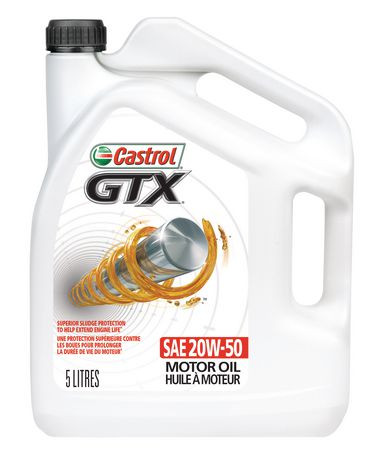 Castrol gtx 20w50 5 litre walmart canada for Castrol gtx conventional motor oil