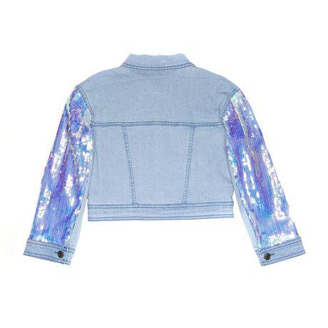 Girls Mini Pop Kids Denim Glow Jacket - image 6 of 7
