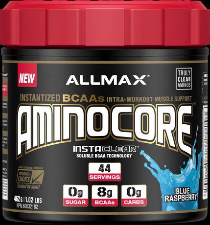 Mélange de boisson Aminocore d'Allmax pour intra-séance d'entraînement de soutien musculaire - image 1 de 2