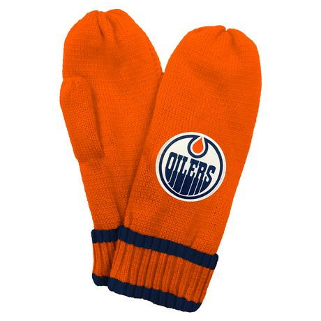 NHL Edmonton Oilers Mens Ultimate Fans Winter Mittens  - image 2 of 3