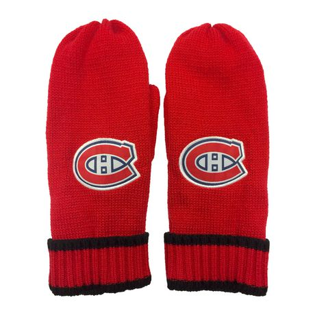 NHL Montreal Canadiens Mens Ultimate Fans Winter Mittens - image 1 of 3