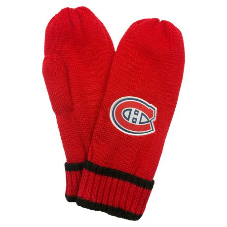 NHL Montreal Canadiens Mens Ultimate Fans Winter Mittens - image 2 of 3
