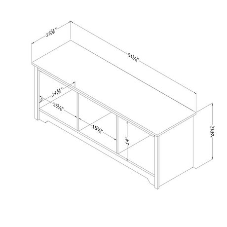 South Shore Vito Cubby Storage Bench - image 3 of 5