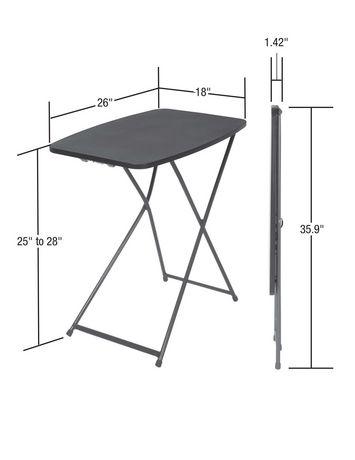 Table d 39 activit pliante r glable de cosco paquet de 2 for Table pliante walmart