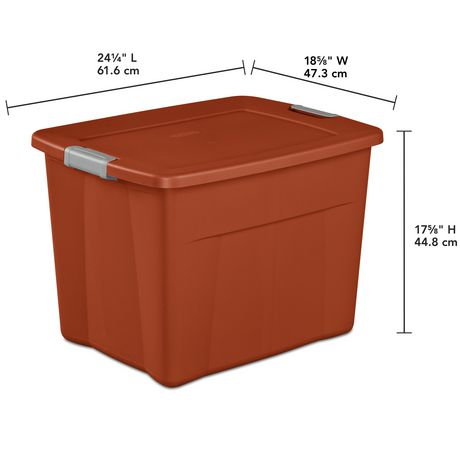 Sterilite Boîte Snap 83L- Orange - image 3 de 3