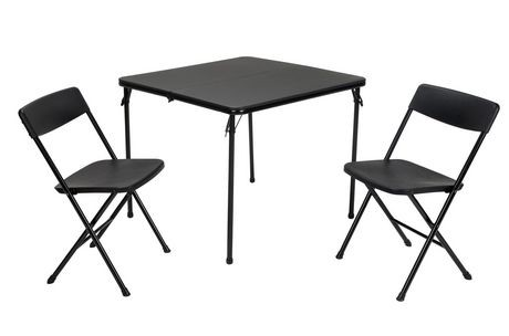 Ensemble de table et chaise pliantes de 3 pi ces de cosco for Table pliante walmart