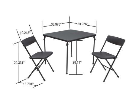 Cosco 3 Piece Folding Table And Chair Set Walmart Canada