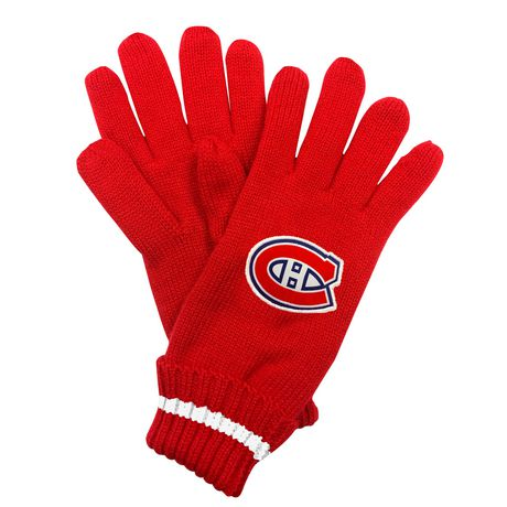 NHL Montreal Canadiens Mens Ultimate Fans Winter Gloves - image 2 of 3