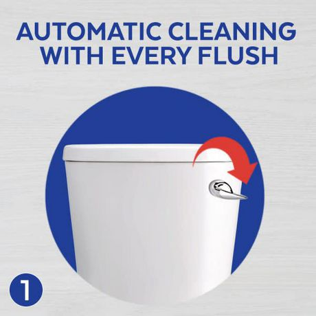 Lysol Blue Power 6, Automatic Toilet Bowl Cleaner, Ocean Fresh, 1 Count, Fight & Prevent Toilet Stains - image 4 of 9