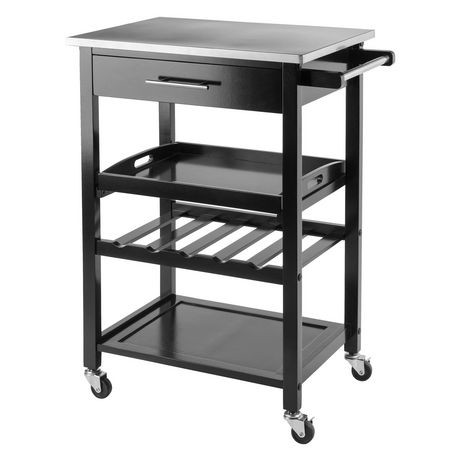 winsome anthony kitchen cart stainless steel - 20326 | walmart canada
