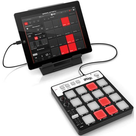 ik multimedia dt ik multimedia irig pads midi pad controller for ios android mac and pc. Black Bedroom Furniture Sets. Home Design Ideas
