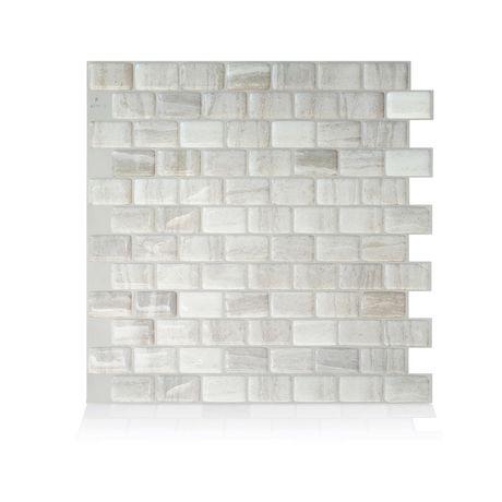 Pleasant Ravenna Farro 9 80 In W X 9 74 In H Peel And Stick Mosaic Self Adhesive Wall Tile Backsplash Download Free Architecture Designs Itiscsunscenecom