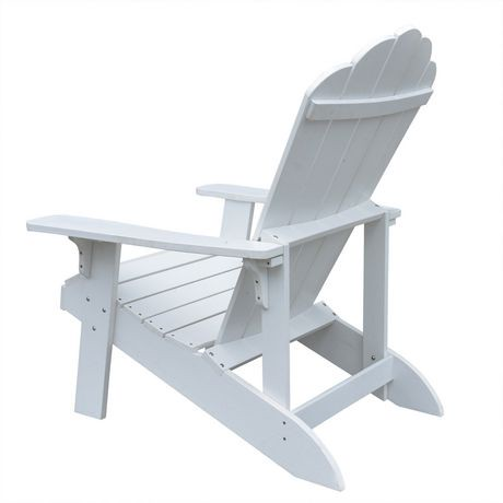 Island retreat white adirondack chair walmart canada for Chaise adirondack canadian tire