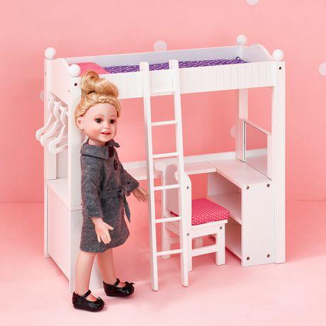 Amazing Olivias Little World Princess 18 Doll College Dorm Double Bunk Desk Home Interior And Landscaping Ymoonbapapsignezvosmurscom