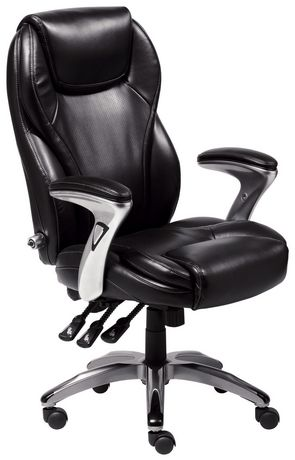Broyhill ergo super task chair black for Super comfy office chair