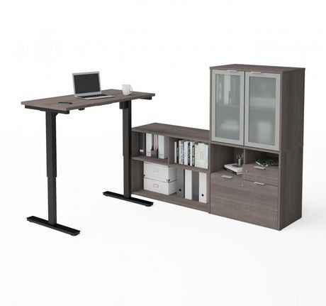 bestar i3 plus bureau en l hauteur ajustable avec huche walmart canada. Black Bedroom Furniture Sets. Home Design Ideas