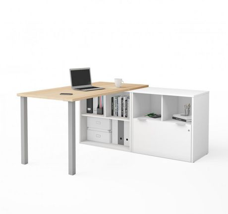 Bestar I3 Plus L Desk With One File Drawer