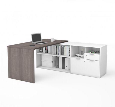 huge discount 76fa2 af843 Bestar i3 plus L-Desk with Two Drawers