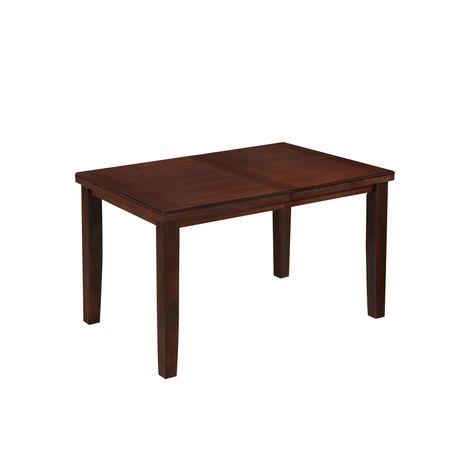 Extensible En Pour À Brun Chaud Salle Comptoir Table Bois Rectangulaire Manger Corliving Hauteur sdthQrC