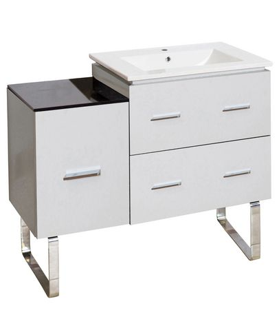 American Imaginations 33.25-in. W Vanity Base Set White - image 1 of 1