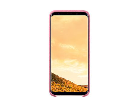 best service 5fd59 016f9 Pink Alcantara Cover for Samsung S8 Plus