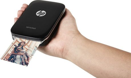 HP Sprocket X7N08A Portable Photo Printer, Black - image 3 of 5