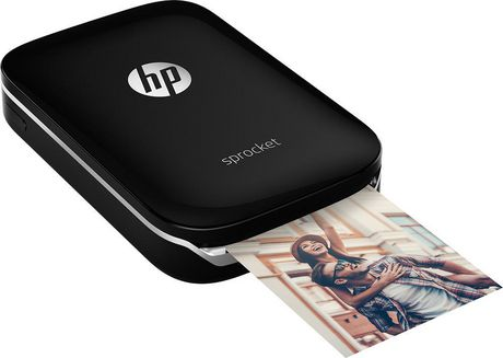 HP Sprocket X7N08A Portable Photo Printer, Black - image 2 of 5