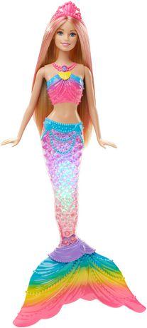 Poup e sir ne couleurs et lumi res de barbie walmart canada - Barbie sirene couleur ...