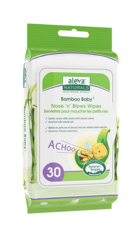 Aleva Naturals® Bamboo Baby® Nose 'n' Blows Wipes - 30ct - image 1 of 3