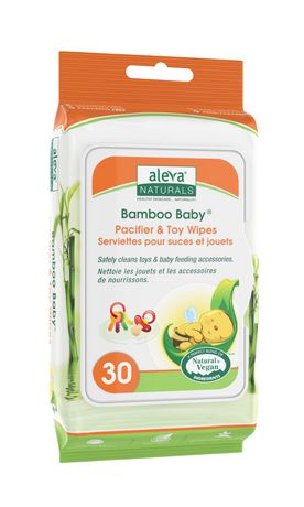 Aleva Naturals® Bamboo Baby® Pacifier & Toy Wipes - 30 Count - image 1 of 1