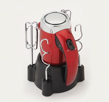 Betty Crocker™ Metallic Red 7-Speed Power-Up™ Hand Mixer With Stand - image 2 of 6