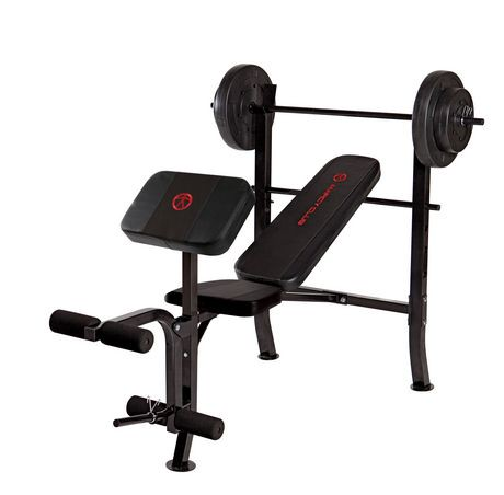 Impex Marcy Mkb 2081 Standard Bench With 80 Lb Weight Set