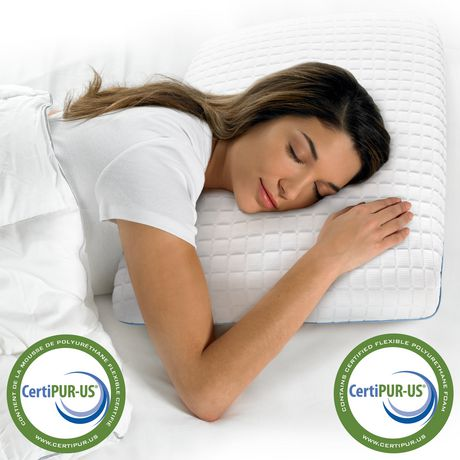 Oreiller de lit en mousse viscoélastique HoMedics à triple fraîcheur avec gel - image 2 de 3