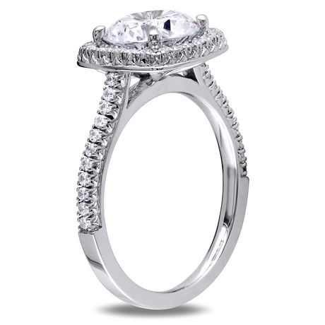 Miabella 5 Carat T.G.W. Cubic Zirconia Sterling Silver Halo Engagement Ring - image 2 of 5