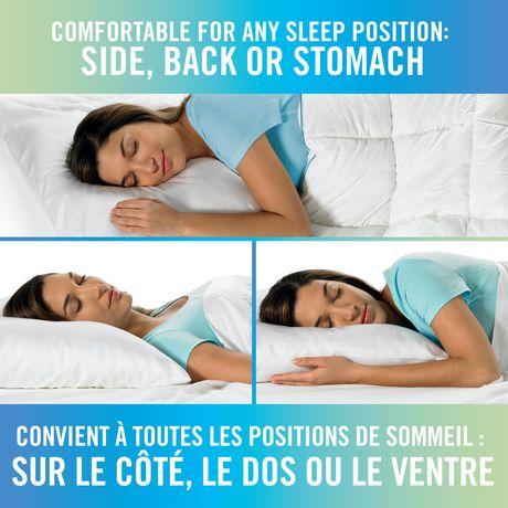 Oreiller de lit en mousse viscoélastique HoMedics à triple fraîcheur avec gel - image 3 de 3