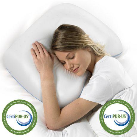 Oreiller de lit en mousse viscoélastique HoMedics à forme confortable - image 2 de 3