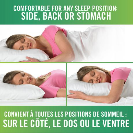 Oreiller de lit en mousse viscoélastique HoMedics à forme confortable - image 3 de 3